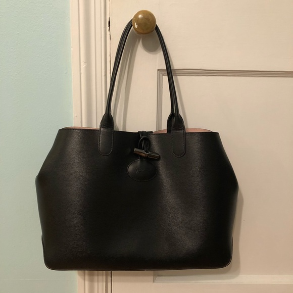 317d62447cc Longchamp Handbags - Longchamp Roseau Reversible Leather Shoulder Tote
